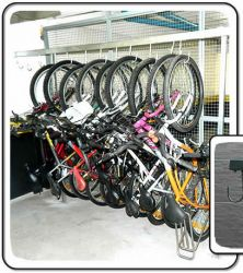 Bicicletário Suspenso para 12 Bicicletas Com Cabos de Aço